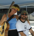 Heather [Douthit] and Dave from Copper Sky at the Baltimore Yacht Club (Summer 2006)