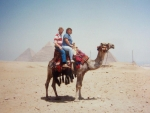 Geoff Trotman & Sue Berryhill at the Pyramids in Egypt, 1993