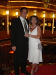 Tim and Nancy Rennie - celebrating our 25th anniversary at sea.