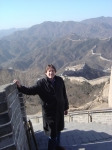 Climbing the Great Wall at Badaling one cold morning.  Legend has it that you become a Lucky Hero once you climb the gre
