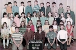 Stanton Elementary Gr. 5 Mr. Evans  KNEELING: Wayne West, Rob Ward, John Ferrara, Jim Breault, Jim Hand //2ND ROW: Joyce