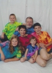 Swanson's Summer 2006.  Clockwise from top: Erik (now 8), Dave, Drew (14), Ava (3), Anya (11), and Nadine in center