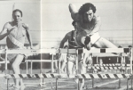 Wayne Bolt and Scott Carpenter running hurdles Spring Track 1977.  This photo is in the yearbook supplement, but conside