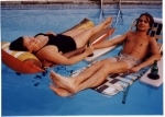 Mark Stevens and Sue Berryhill (in Dave Resende's pool)