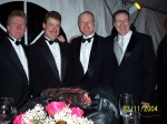 O'Neill's at cousin's wedding in New Canaan, CT. Uncle John, Jim (JDHS '81), Mike, and Dan (JDHS '78)