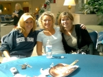 Heather Douthit, Barbara Ryan and Janine Smith (with Karen Lloyd passed out on the table).